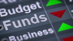 """""""Funds"""" on the screen. Down. Looping. Stock Footage"""