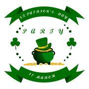 Celebration Holiday St. Patrick's day Stock Illustration