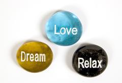 Relax Love Dream Encouragement Stones Kuvituskuvat