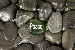 Green Peace Encouragement Stone Kuvituskuvat