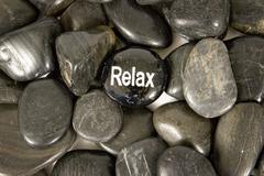 Relax Encouragement Stone On River Rocks Kuvituskuvat