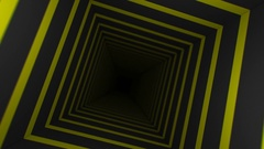 Yellow Striped Infinity Box (25fps) Stock Footage