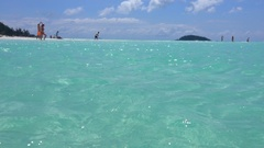 Whitehaven Beach, Inlet Hill, Ocean Stock Footage