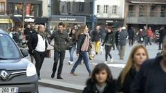 Paris attacks France vigipirate Stock Footage