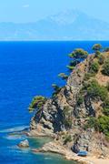 Aegean sea coast (Chalkidiki, Greece). Stock Photos
