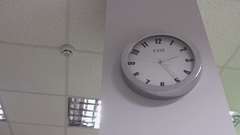 The clock in the office Stock Footage
