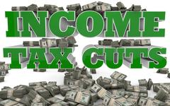 Income Tax Cuts Stock Illustration