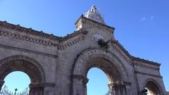 Northern main gate of the Colon Cemetery (Cementerio Cristobal Colon). Havana Stock Footage