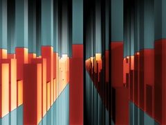 VJ Loops Ultra Wide Multi Screen Abstract Motion Background HD 1920x480 Stock Footage