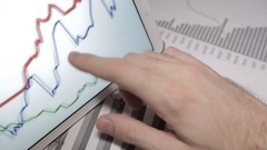 Businessman Working With Tablet Pc, Touch Pad Stock Footage
