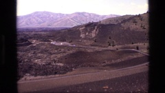 1972: a top view of a busy road with many vehicles moving around IDAHO Stock Footage