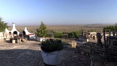 Delta Danube, Romania  view from the terace Stock Footage