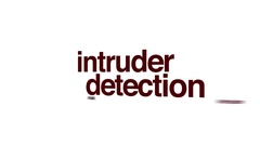Intruder detection animated word cloud Stock Footage