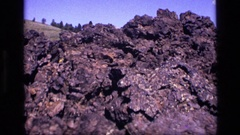 1972: an extremely rocky and uneven terrain. IDAHO Stock Footage