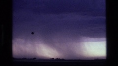 1972: odd cloud formations showing then reaching the ground IDAHO Stock Footage