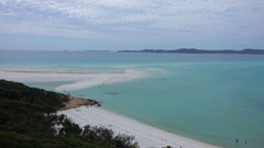 Hill Inlet wide panaromic View Stock Footage