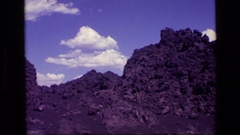 1972: a vast area of land covered with mountain and rocks everywhere IDAHO Stock Footage