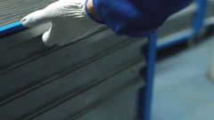 Auto mechanic with working tools For repair and diagnostics of cars in the Stock Footage