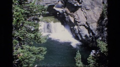 1973: a natural fountain from mountain SCAPEGOAT WILDERNESS MONTANA Stock Footage