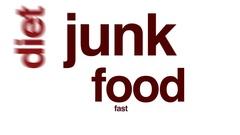 Junk food animated word cloud. Stock Footage