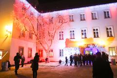 ZAGREB, CROATIA - DECEMBER 1th, 2016: Advent time in city center of Zagreb Stock Photos