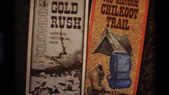 1977: the front cover of two books with different designs and colors ALASKA Stock Footage