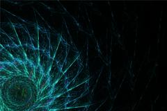 Dark shining abstract floral fractal background Piirros