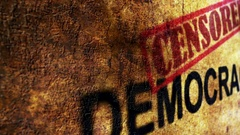 Censored democracy grunge concept Stock Footage
