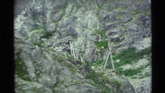 1977: a large mountain area covered with rocks everywhere ALASKA Stock Footage