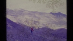 1977: a mountain all year round ALASKA Stock Footage