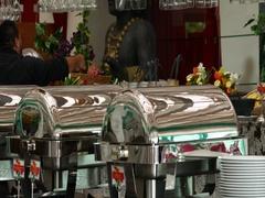 Mexico luxury resort buffet breakfast food DCI 4K Stock Footage