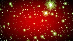 Red Vignette Green Glow Stars Infinite Flight Motion Background Loop Roll Left Stock Footage