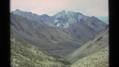 1977: mountains cliffs close up ALASKA Stock Footage