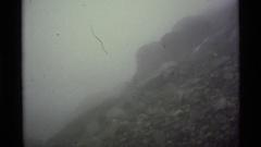 1977: foggy mountain scenery ALASKA Stock Footage