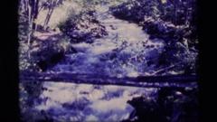 1977: medium-sized stream flowing swiftly ALASKA Stock Footage