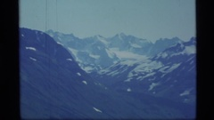 1977: nature view of a mountain with full of snow.looks fantastic. ALASKA Stock Footage