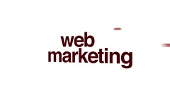 Web marketing animated word cloud. Stock Footage