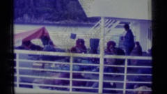 1977: passengers on a whale watching tour boat ALASKA Stock Footage
