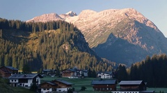 Lech am Arlberg morning time lapse  Stock Footage