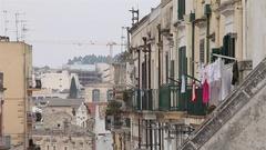 Matera street, Matera, a city and a province of Basilicata, Southern Italy Stock Footage