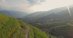 The Longji Rice Terraces Stock Footage