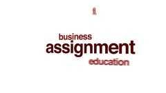 Assignment animated word cloud. Stock Footage