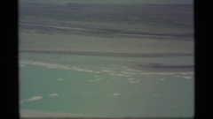 1977: enjoying the nuture by watching outside from plane ALASKA Stock Footage