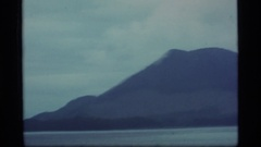 1977: several mountains are shown along the coast, vintage clip Stock Footage