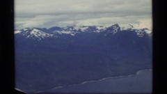 1977: the beauty of the land showing its many landforms GLACIER BAY ALASKA Stock Footage