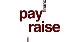 Pay raise animated word cloud. Stock Footage