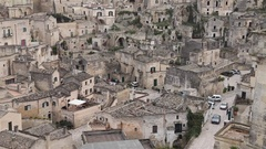 Matera, a city and a province of Basilicata, Southern Italy Stock Footage