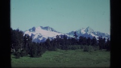 1977: enjoying a scenic panoramic shot of wide open spaces ALASKA Stock Footage