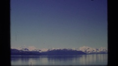 1977: a landscape view of a group of icebergs floating on a river ALASKA Stock Footage