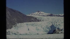 1977: beautiful mountains covered snow artic point like GLACIER BAY ALASKA Stock Footage